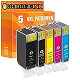 Gorilla-Ink® 5 Patronen XXL kompatibel für Canon PGI-525 XL CLI-526 XL Pixma MX 715 MX 885 MX 890 Series MX 895