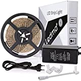 LEDMO tiras led 5m,12V blanco cálido tira led 2700K SMD2835 600leds cinta led IP20 no impermeable...