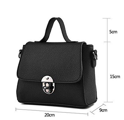 Damen-Tasche Kleine Frische Mode-Tasche Messenger Bag Schultertasche Black