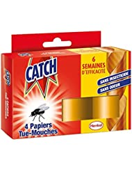 CATCH Papier Tue-Mouche 4 Rouleaux