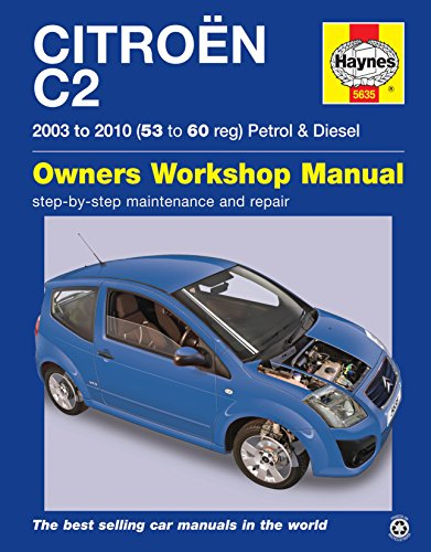 Citroen C2Reparatur Handbuch Haynes Handbuch Werkstatt Service manuell 2003–2010