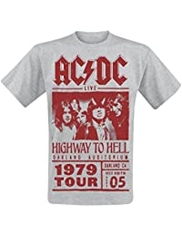 AC/DC Highway To Hell - Red Photo - 1979 Tour T-Shirt grau meliert