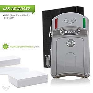 uFR RFID Mifare und NFC kompatibel Kartenleser / Schreiber Mifare Classic 1K und 4K, Ultralight, NTAG + Linux / Windows kostenlose Software + 5 Karten