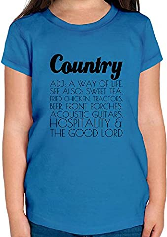 Country Definition Funny T-shirt Fille 12+ yrs