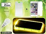 ECOBELLE® set Cover I-phone 6/6S + Vetro Temperato di protezione (effetto riflettente luminoso LED), Colore VERDE