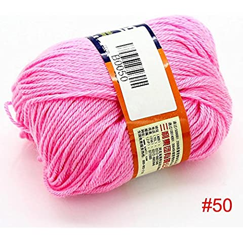 50g morbida lana della Nuova superiore 1balls pettinato maglione di cashmere a maglia a maglia caldo Media bambino Yarn