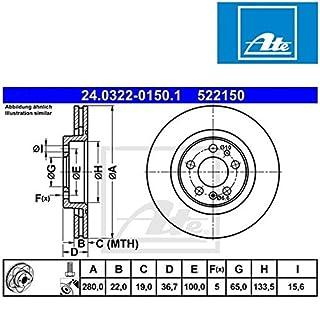 ATE 24032201501 Bremsscheibe Power Disc - (Paar)