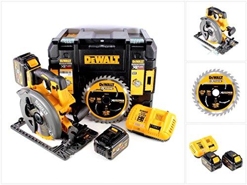 Preisvergleich Produktbild DeWalt DCS 576 54 V FlexVolt Akku Handkreissäge mit 190 mm Sägeblatt und T-Stak Box + 2 x DCB 546 6 Ah Akku + DCB 118 Ladegerät + extra Sägeblatt