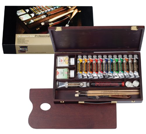 Great Buy for REMBRANDT ARTISTS' WOODEN BOX PROFESSIONAL OIL PAINT SET
