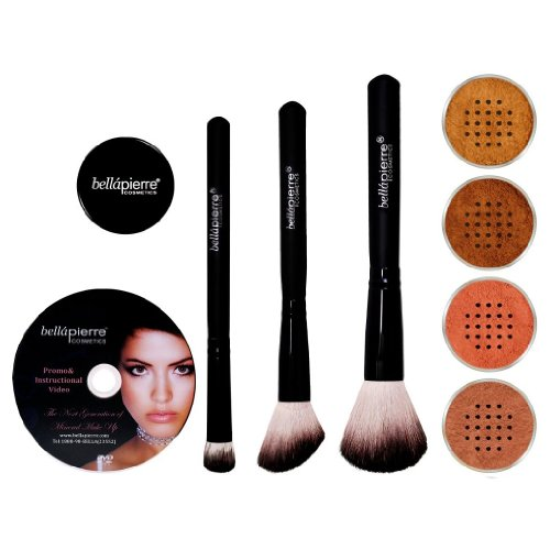 BellaPierre Get Started Foundation Makeup-Set, Deep (dunkel) (Mineral-starter-kit)