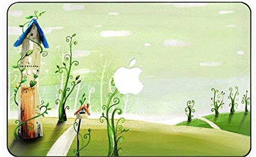 lektion Kollektion Hochwertige Ultra Dünn Vorderseite Aufkleber Removeable Top Abziehbild Für MacBook Pro 15 Zoll mit CD/DVD Laufwerk (Modell: 1286) (grüner Baum) ()