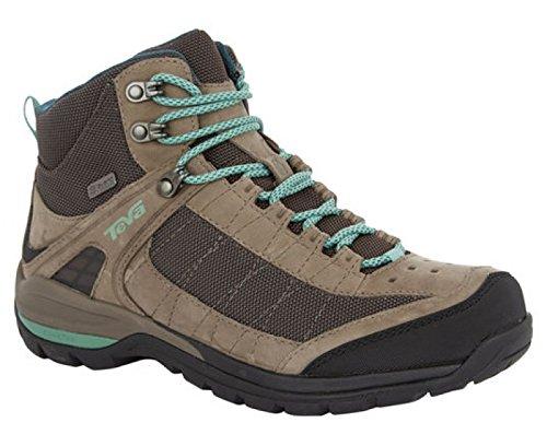 Teva Kimtah Mid Event Mesh, Chaussures de randonnée tige haute femme gris=gris fonce=bleu