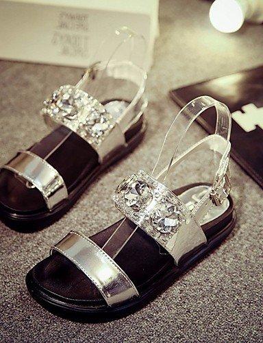 LFNLYX Scarpe Donna-Sandali / Scarpe col tacco-Matrimonio / Ufficio e lavoro / Serata e festa / Formale / Casual-Zeppe / Comoda / Innovativo / Silver