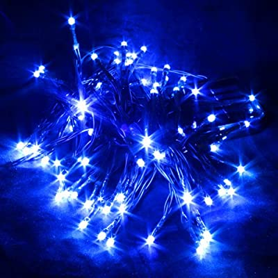 aLLreli® 8M 80 LED Lichterkette Außenbereich Lampen Aussen Leuchten für Garten Party Hochzeit Weihnachten (Solar LED 8M Blau) von aLLreli auf Lampenhans.de