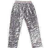 Messy Code - Pantalón - para niña plateado plata XXXL(5-6 Años)