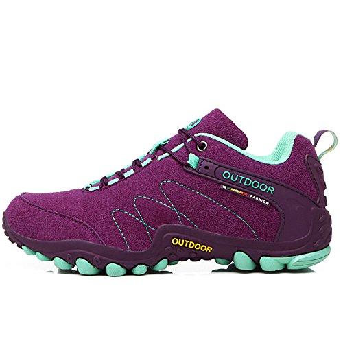 Größe 35-44 Sneakers Damenschuhe Outdoor Schuhe Laufschuhe für Frauen rutschfeste Off-road Jogging Trainer Walking n, Lila, - Jungen-größe 7 Basketball-schuhe Für