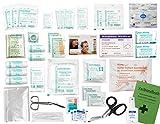 Komplett-Set Erste-Hilfe DIN 13157 EN 13 157 PLUS 2 für Betriebe mit Hände-Antisept-Spray,Notfallbeatmungshilfe & Verbandbuch inkl.Alkoholtupfer + Pinzette