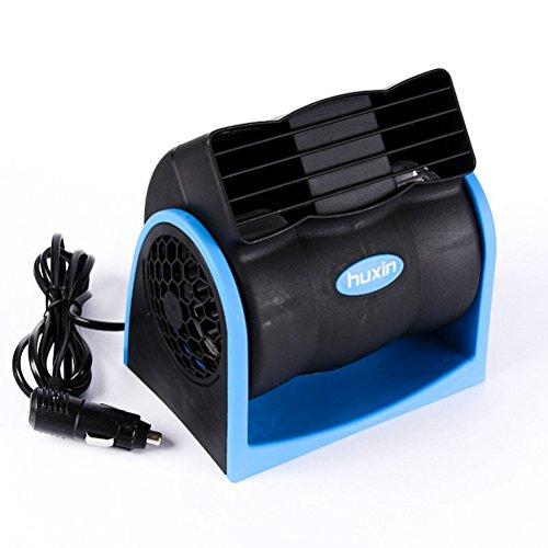 VORCOOL 12V Portable Mini Auto Voiture Climatiseur Turbo Ventilateur De Refroidissement Super Silencieux Silencieux Ventilateur 2-Vitesse Réglable Ventilateur d'air De Voiture sans Lames (Bleu)