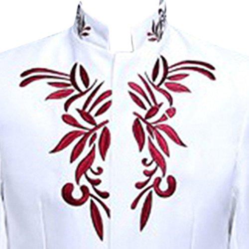 Judi Dench@ Uomo Blazer giacca modello Giacca design smoking Wedding Party bianco e rosso