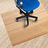 Bamboo Office Chair Mat Natural Floor Protection