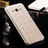 TPU/Rubber IceCube Design Transparent Back Cover For Samsung Galaxy Grand I9082 (white)