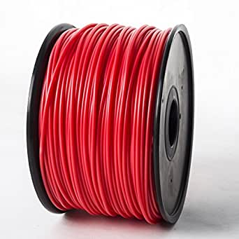 Jet ABS Filament 1.75mm Red 2.8lbs/1.3kg on Spool for MakerBot RepRap MakerGear Solidoodle Ultimaker & Up! 3D Printers