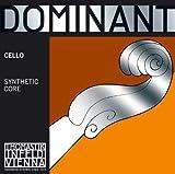 Cordes Thomastik Violoncelle Dominant Noyau plein nylon Do Chrome filé. 4/4; Moyen