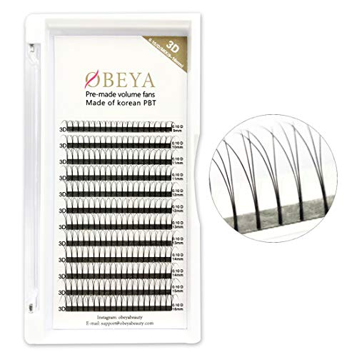 3D Russian Lashes 0 10mm D Curl Volume Eye Lashes 9-16mm Mixed Length  Cluster Individual Eye lashes Extensions Premade Volume Fans For  Professional