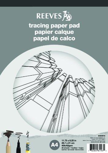REEVES 8490672 papier 30 Blatt A4, Holz, 30 x 20 x 1 cm, transparent