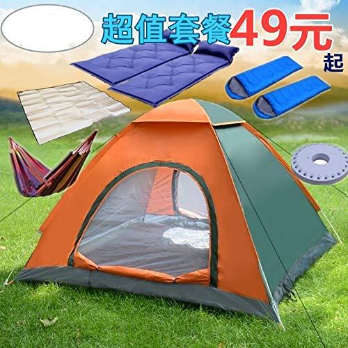 WXZB automatisches Zelt im Freien 3-4 Personen Camp 2 Personen doppelt, Familie Wind und Regen 2 Sekunden, um Zelt zu öffnen, Farbe besessen