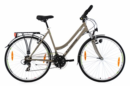 KS Cycling Damen Trekkingrad Nevada RH 53 cm Multipositionslenker Fahrrad, Bronze, 28