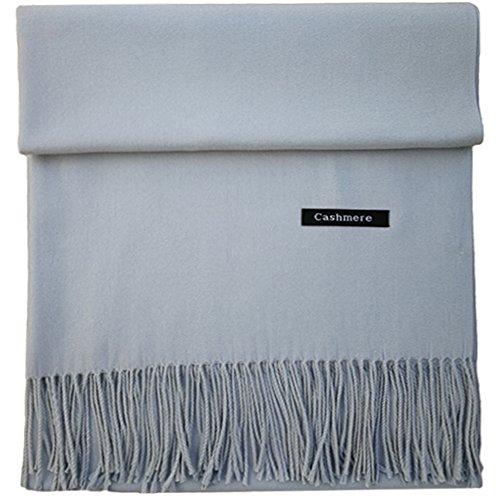 iEverest Kaschmir Schal Super Soft Einfarbig Kaschmir Schal für Männer & Frauen, Winter warm große Dicke Schal Wraps Schal Quasten 78,8