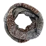 Hyde Loop Schlauchschal, Winter Warmer Strick Loop Schal, Herren-Schal und Damen-Schal (Braun)