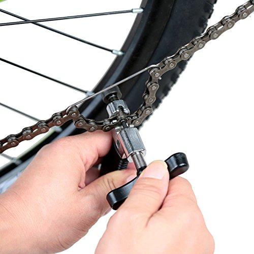 MTURE Werkzeug Kettennietdrücker,Kettennieter für Fahrrad Ketten Entferner Werkzeug, schwarz - 6