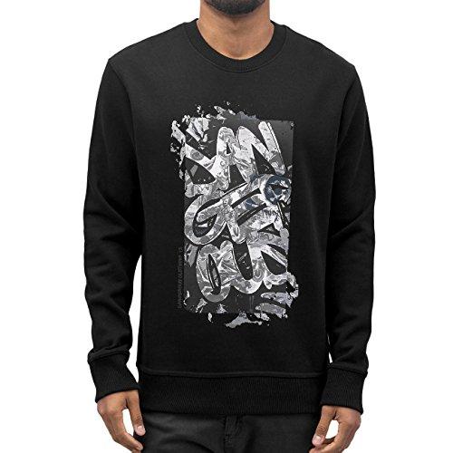 Dangerous DNGRS Homme Hauts / Pullover Graffiti Noir