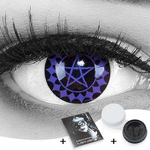 MeralenS 1 Paar farbige black buttler violette Cosplay Manga Crazy Fun Jahres Kontaktlinsen Black Butler mit gratis Linsenbehälter. Perfekt zu Fasching, Halloween, Karneval Kostüm.