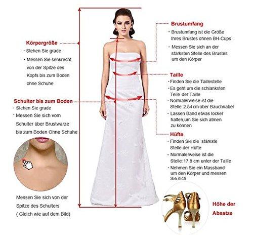 Milano Bride Damen Liebling Chiffon Herzform Kurze Abendkleid Heimkehrkleider Abschlusskleid Strass Pailette Rot