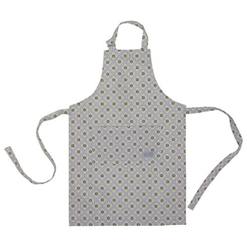 Ochre and Ocre Organic Cotton Adult Kitchen Apron Garden Ochre Grey by...