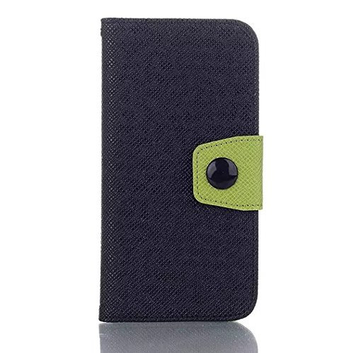 iPhone Case Cover IPhone 6 6s cas, mélange et match de couleur avec bouton de verrouillage frontal couverture de silicium coloré pour IPhone 6 6s ( Color : Blue , Size : IPhone 6 6S ) Black