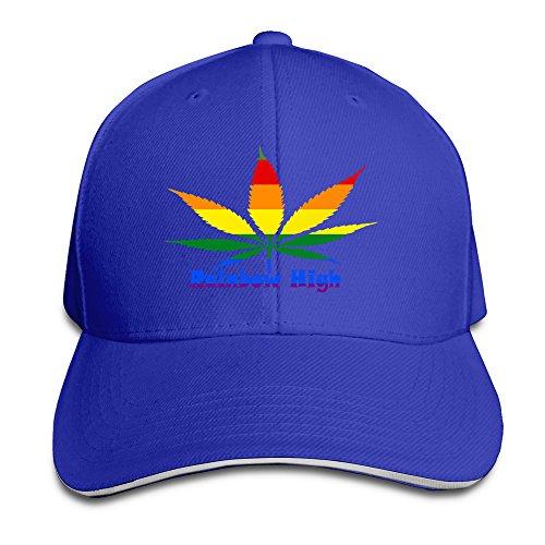 YSC-Dier Rainbow High Gay Lesbian Cool Flat Bill Adult Unisex Cap Royalblue