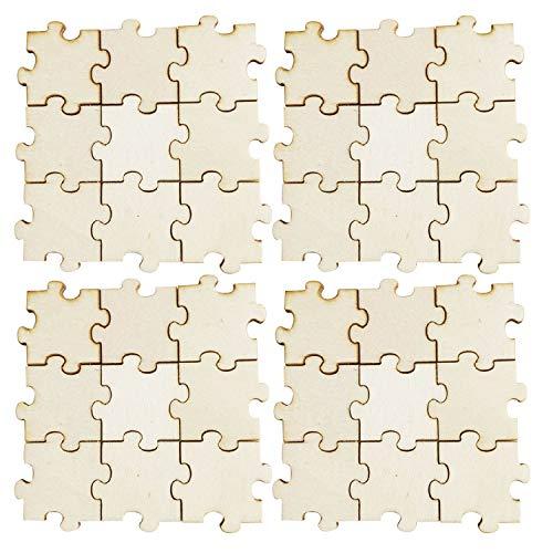 Blank Puzzle Stücke für DIY Kunstprojekte Hochzeiten Baby Duschen Kinder Geburtstage Schule Klassenzimmer Aktivitäten ()
