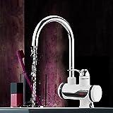 Decdeal Elektrischer Wasserhahn Durchlauferhitzer mit LED Temperatur Anzeige Kalt & Heiß Schalter 360 Grad Drehbar