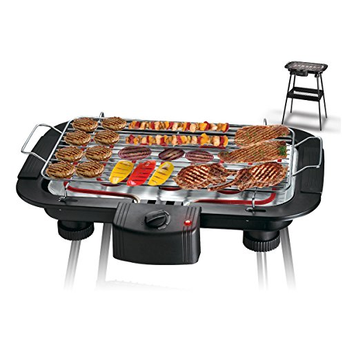 TISCHGRILL ELEKTROGRILL BARBECUE GRILL MIT STAND 2000W 38X22CM