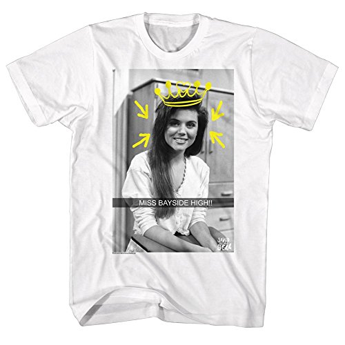 Saved By The Bell - Männer Miss Bayside Snap-T-Shirt, Small, White (Bell Snap)