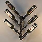iKayaa Weinregal Wand Flaschenhalter Flaschenständer aus Stahl für 6 Flaschen