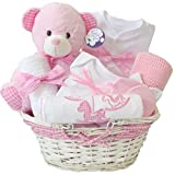 Welcome Baby Mädchen Geschenkkörbe Pink/Neugeborene Baby Dusche Girl Geschenke Korb/Schnell Versand