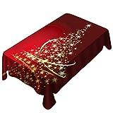 Weihnachts tischdecke Drucken Rechteck Tisch Decken Urlaub Party Home Decor YunYoud Weihnachtsbaum Form Muster Druck