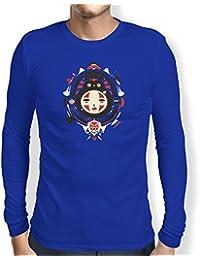 TEXLAB - Neighbors Mask - Herren Langarm T-Shirt, Größe M, marine