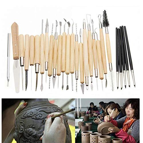 Froniy 27pcs / Set Professioneller Ton und pottry Skulptur Werkzeug-Satz-Silikon-Gummi-Shaper Schnitzen Fimo Modelling-Werkzeug für Lehm Carving -