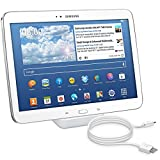 kwmobile Docking Station Micro USB pour Samsung Galaxy Tab 3 10.1 P5200/P5210 - Base de Charge Micro USB câble de Charge Support de Charge en Blanc